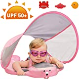 PRESELF Baby Solid Float with Removable UPF 50+ UV Sun Protection Canopy Safety Aquatics Floating Ring Fit Infant Toddler Swimming Pool Swim School Training