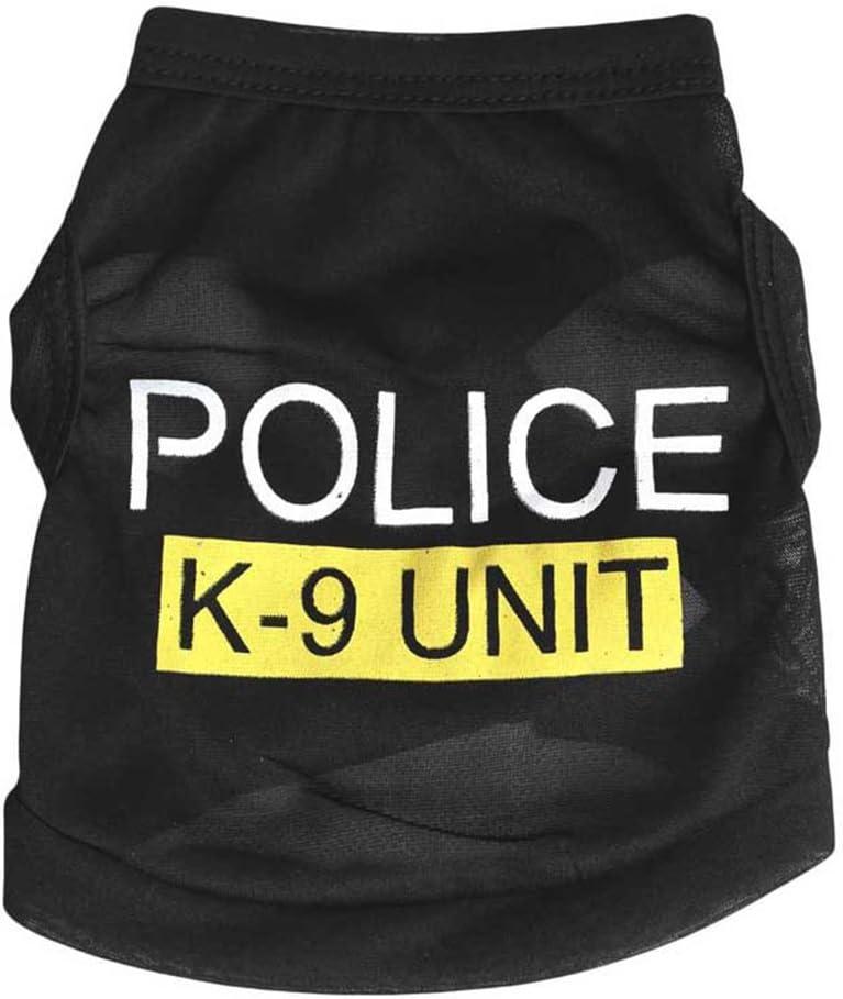 BulzEU - Camiseta de Seguridad para Mascotas, Perro, Cachorro, policía, Agente de Justicia, Abrigo, Ropa para Mascotas, Disfraz de Disfraz de Halloween, Navidad