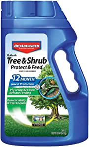 BAYER CROP SCIENCE 701900B 12-Month Shrub Protect & Feed Insect Killer and Tree Food, 4-Pound, Granules