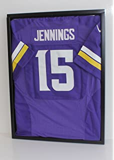 uv protection football baseball hockey jersey uniform display case shadow box ultra clear jc24c