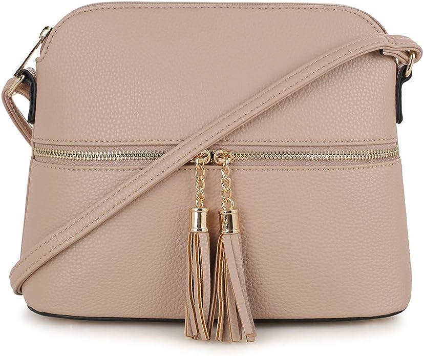 SG SUGU Leichte mittelgroße Kuppeltasche mit Quaste