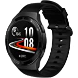 Compatible for Huawei Watch GT 2e Band, Blueshaw Silicone Replacement Soft Band Wristbands Straps with Stainless Steel…