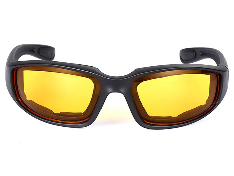 SonMo Nachtsichtbrille Schutzbrille Motorradbrille Sportbrille Snowboardbrille Skibrille Radbrille TPU+PC Polarisiert Sportbrille Blendschutz mit UV Schutz Winddicht