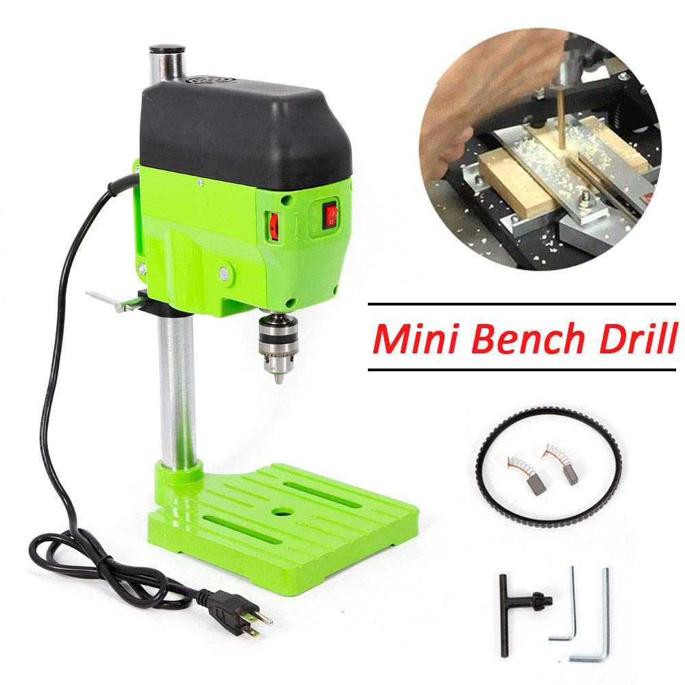 Mini Electric Bench Drill Press Stand Compact Portable Workbench Metal Drilling Repair Tool Expanding Drilling Machine 480W DIY Tool (USA Stock) by SHZICMY (Image #2)