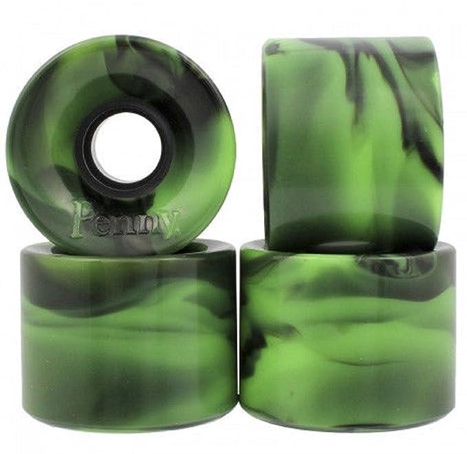Penny Ruedas para Monopatín (59 mm, 4 Unidades), Color Verde y Negro: Amazon.es: Deportes y aire libre