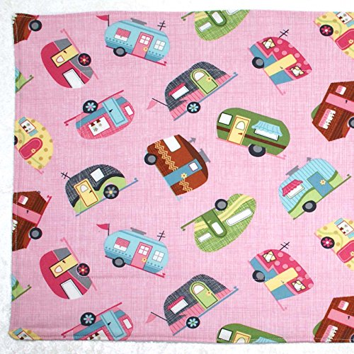 Dish Drying Mat - Pet Placemat - Appliance Mat - Dish Drainer - Pink Campers - RV Camping - ()