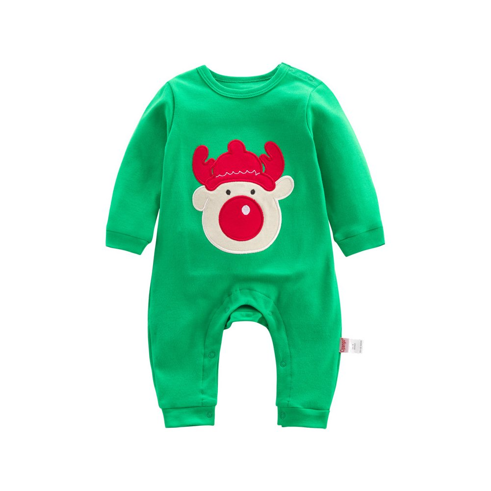 dbec619ab Baby Rompers Jumpsuit,Feicuan Newborn Christmas Xams Outfits Bodysuit Long  Sleeve Cotton Pajamas 1-12 Months: Amazon.co.uk: Clothing