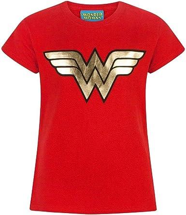 Niña - DC Comics - Wonder Woman - Camiseta (5-6 Años): Amazon.es ...