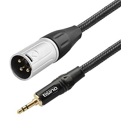 Mini Jack to XLR Male Balanced Audio Converter Cord TISINO 3.5mm Female to XLR Adapter Cable 30 cm