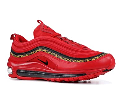 b822ac45aa Nike Women's Air Max 97 University Red/Black/Print Leather Casual Shoes 6 M