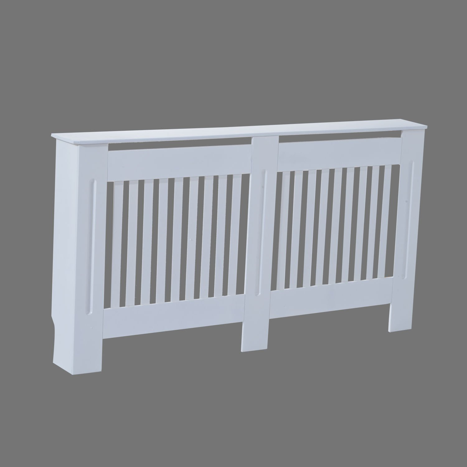 Homcom Slatted Radiator Cover Painted Cabinet Mdf Lined Grill In