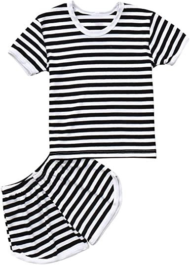 WARMSHOP Newborn Cotton Clothes for Toddler Boy Girl Shits Giggles Letter Print Short Sleeve Baby Summertime Romper Playsuit