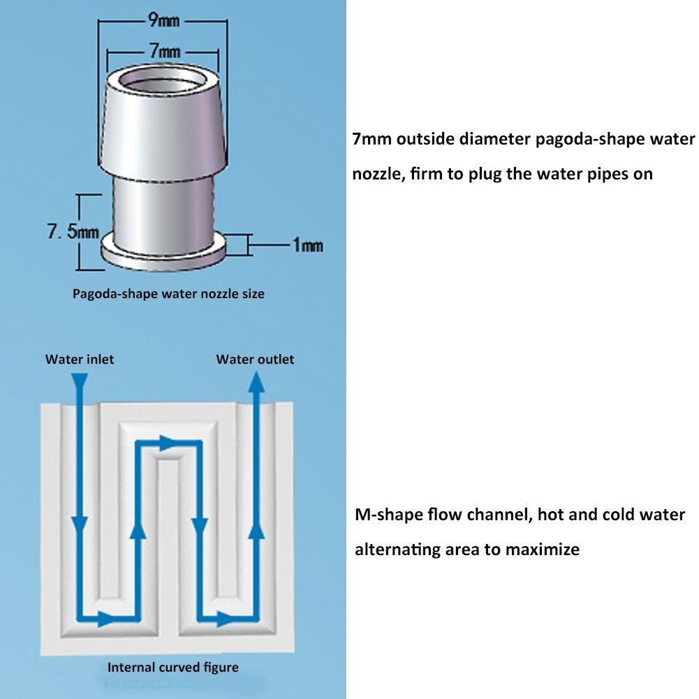 Aluminum Water Cooling Block, Yeeco 40x40x12mm Aluminum Water Liquid ...