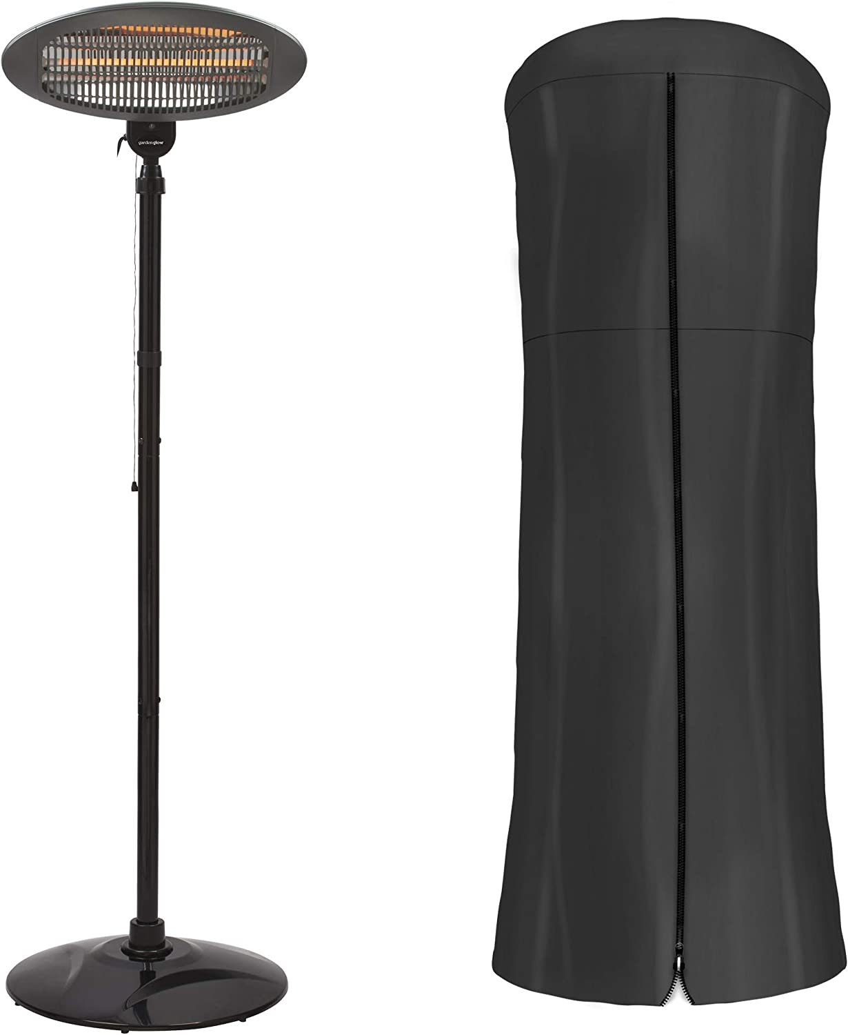 Garden Glow Electric Patio Heater Cover Infrared Garden Outdoor Free Standing With 3 Power Settings 2000w Amazon Co Uk Garden Outdoors