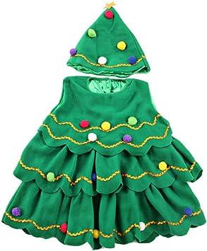 BESTOYARD Disfraz de árbol de Navidad para niños Vestido de ...