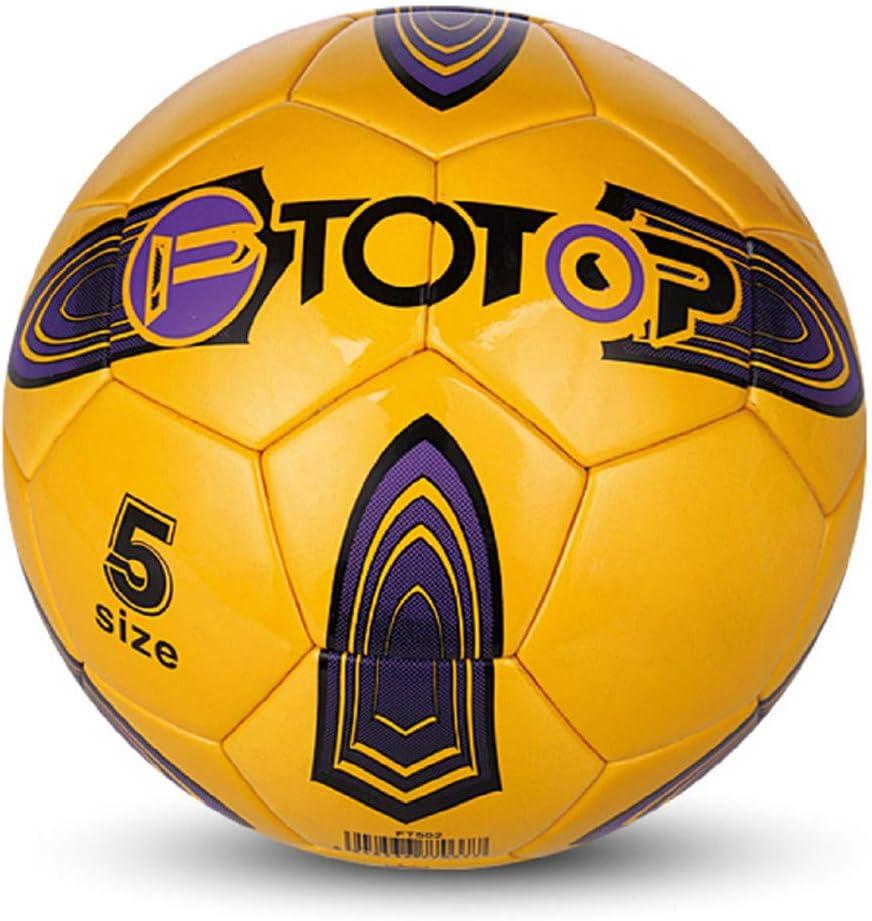 Shenhai Fútbol Fútbol Infantil N ° 4 Núm. 5 PU jarrón Fútbol Juvenil Entrenamiento para Estudiantes Fútbol, Amarillo, N ° 5: Amazon.es: Hogar