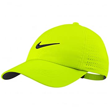80e8f67f27a11 NEW Nike Tour Perforated Volt Lime Green Adjustable Youth Golf Hat ...
