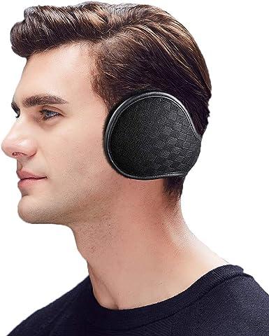 Winter Foldable Ear Warmers,Fleece Ear Muffs Classic Winter Outdoor Ear Warmer