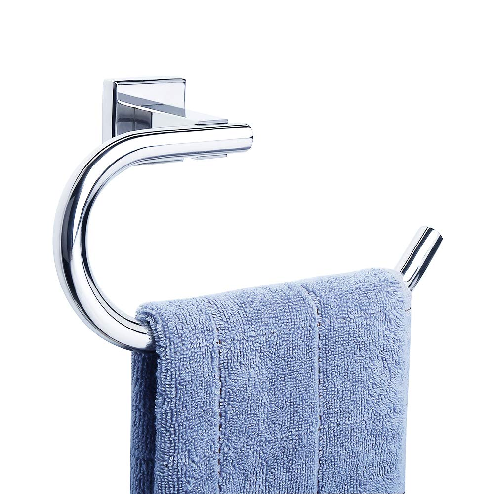 Sayayo Toilet Paper Roll Holder Wall Mounted, Stainless Steel Matte Black, CGK8012-B