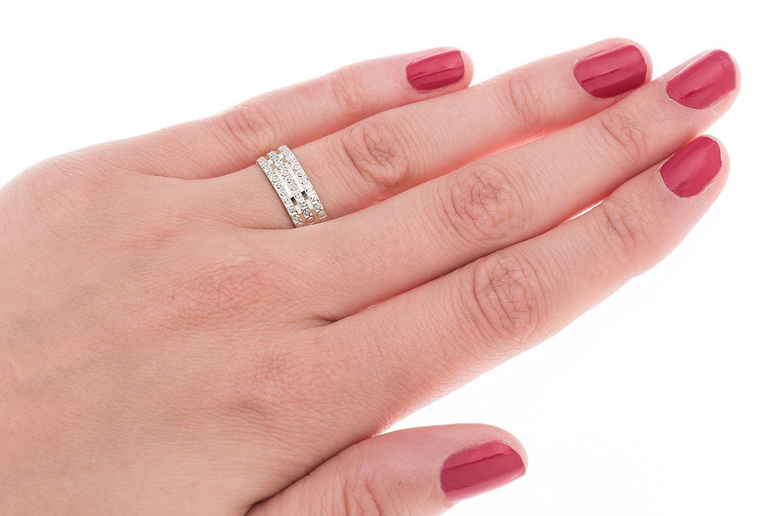 Kareco 9 ct 2 Colour Gold 6 mm Light Flat Diamond Cut Wedding Ring ...