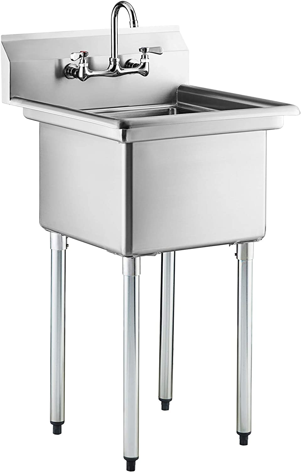 One Compartment Commercial Sink with Faucet | Single 18