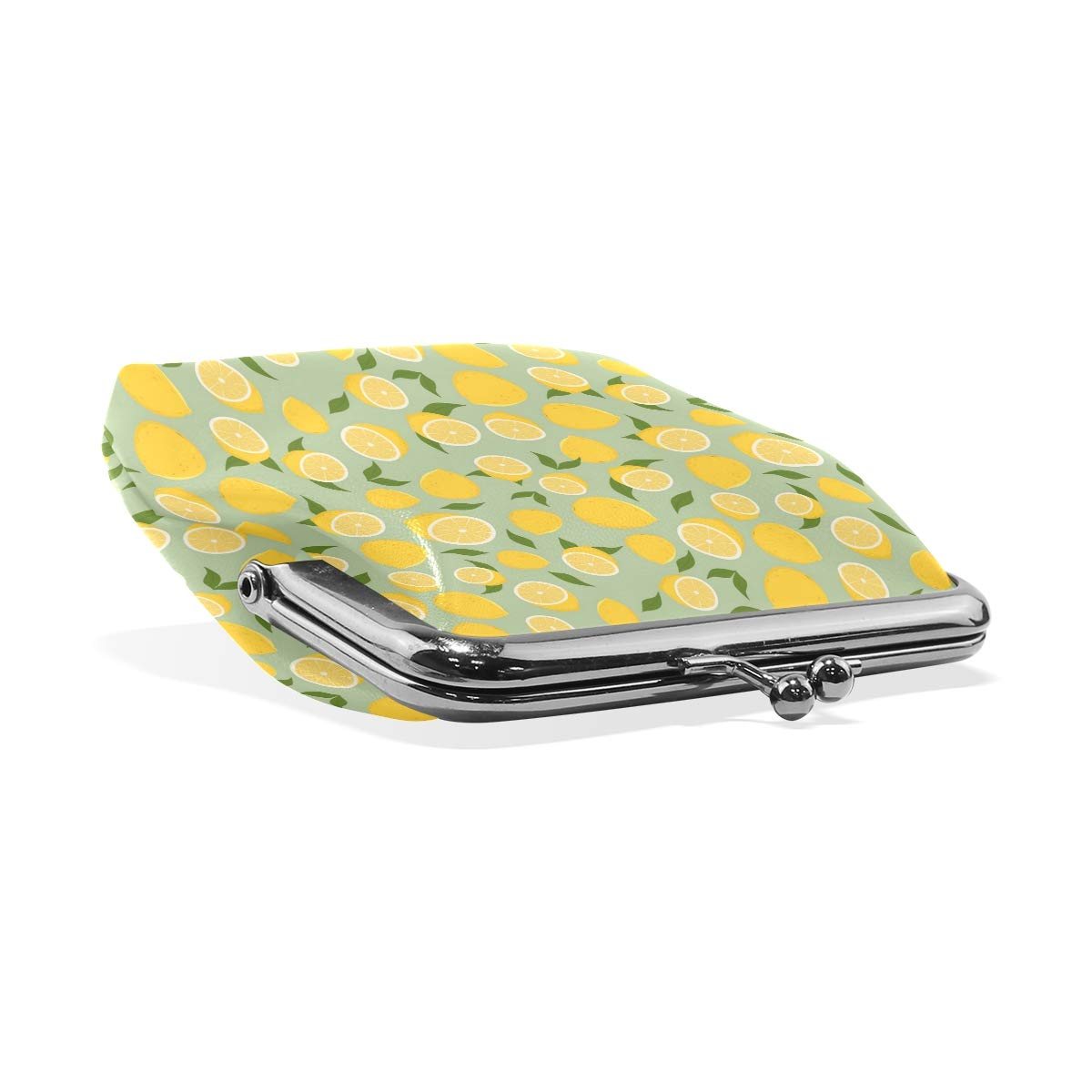 Delicious Yellow Green Lemon Fashion Womens Classic Exquisite Vintage Coin Purse