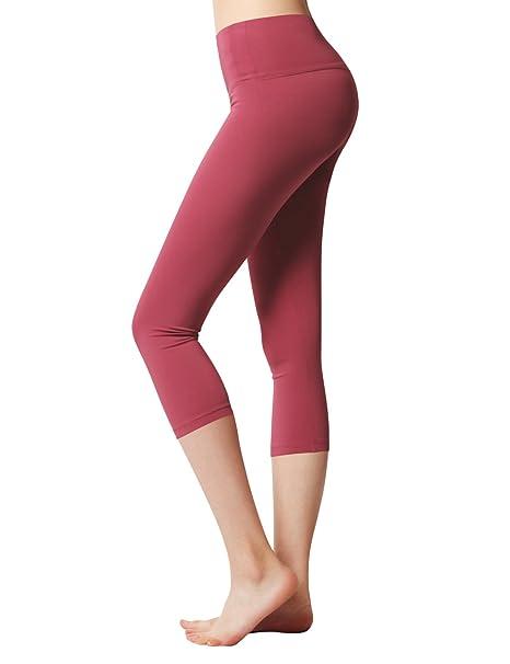 6a1e419360aec6 ACTICLO Women s Yoga Capri Pants Workout Running Legging Inner Pocket  Cinnabar X-Small