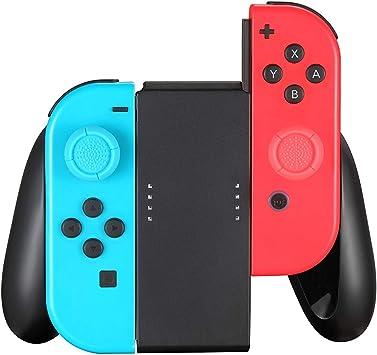 Controlador Agarre Compatible para el Switch Joy-con, Switch Joy-con Hand Grip (Negro): Amazon.es: Electrónica