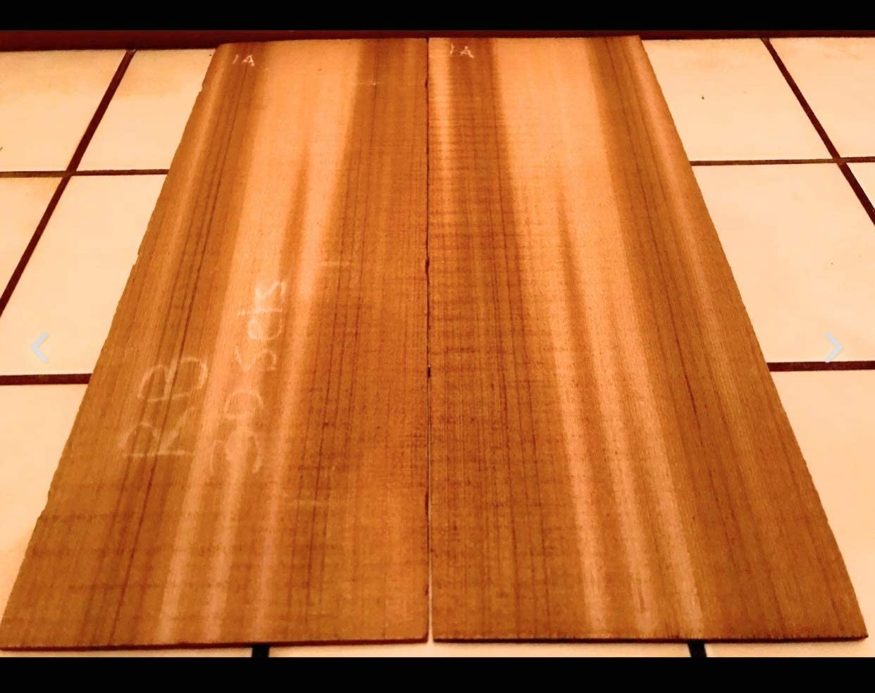 Globalwoods Western Red Cedar Wood Guitar Top Set Book Matched Quartersawn For DIY Guitar Building Projects