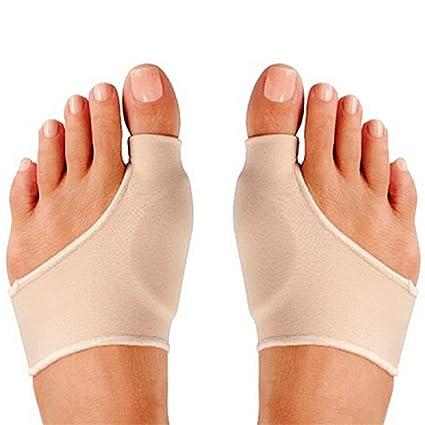 2 almohadillas de goma sintética para dedo del pie, corrector de juanetes Hallux Valgus