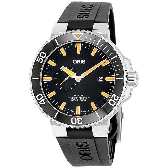 Oris Aquis pequeño segundo, fecha Hombres Reloj De 74377334159rs: Amazon.es: Relojes