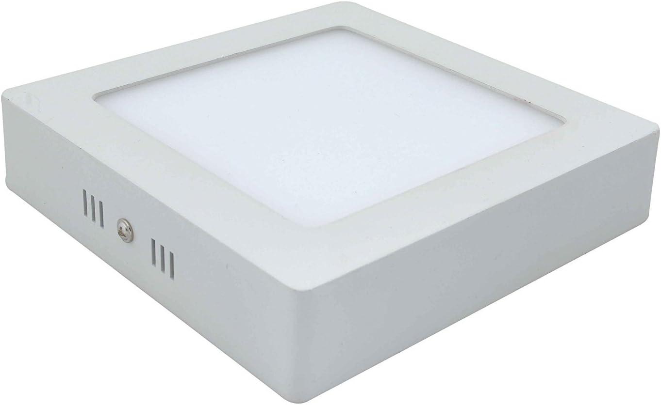 Plafon LED Cuadrada Superficie 12W Pack 2 Downlight LED Blanco Neutro 4000k-4500K: Amazon.es: Iluminación
