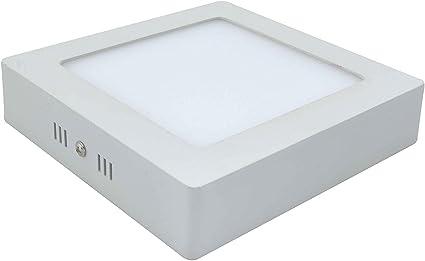 Plafon LED Cuadrada Superficie 12W Pack 2 Downlight LED Blanco Frío 6000k-6500K: Amazon.es: Iluminación
