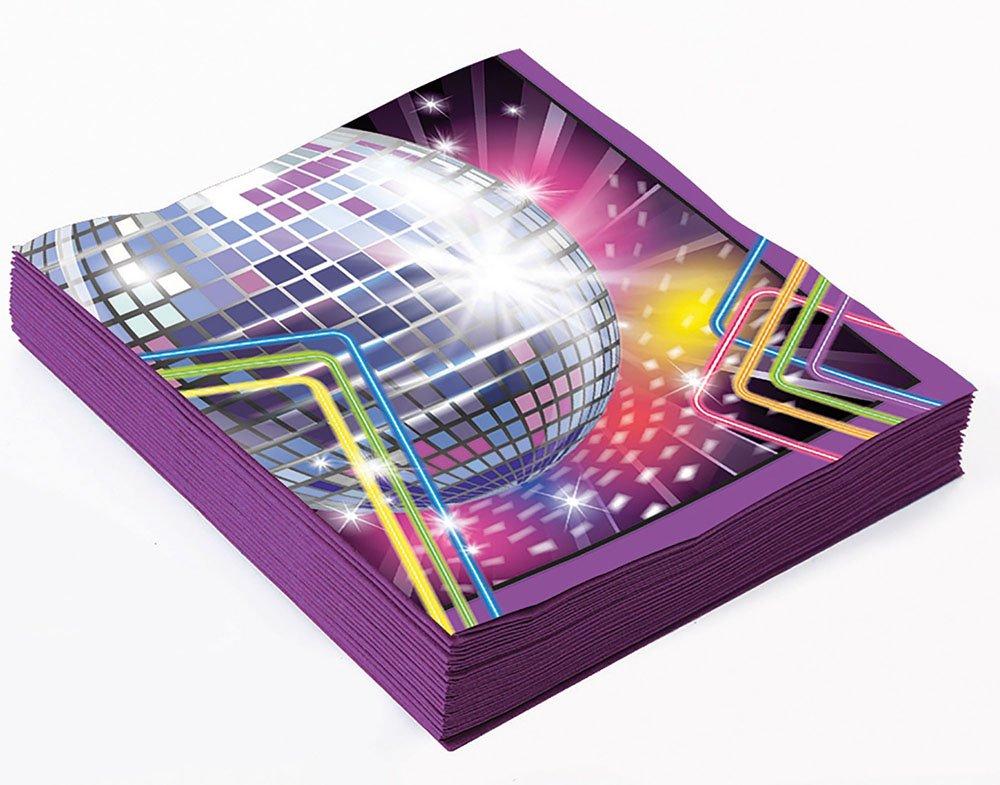 Forum Novelties X77973 Disco Small Napkins, Multi-Colour, One Size   B06XYT12TQ