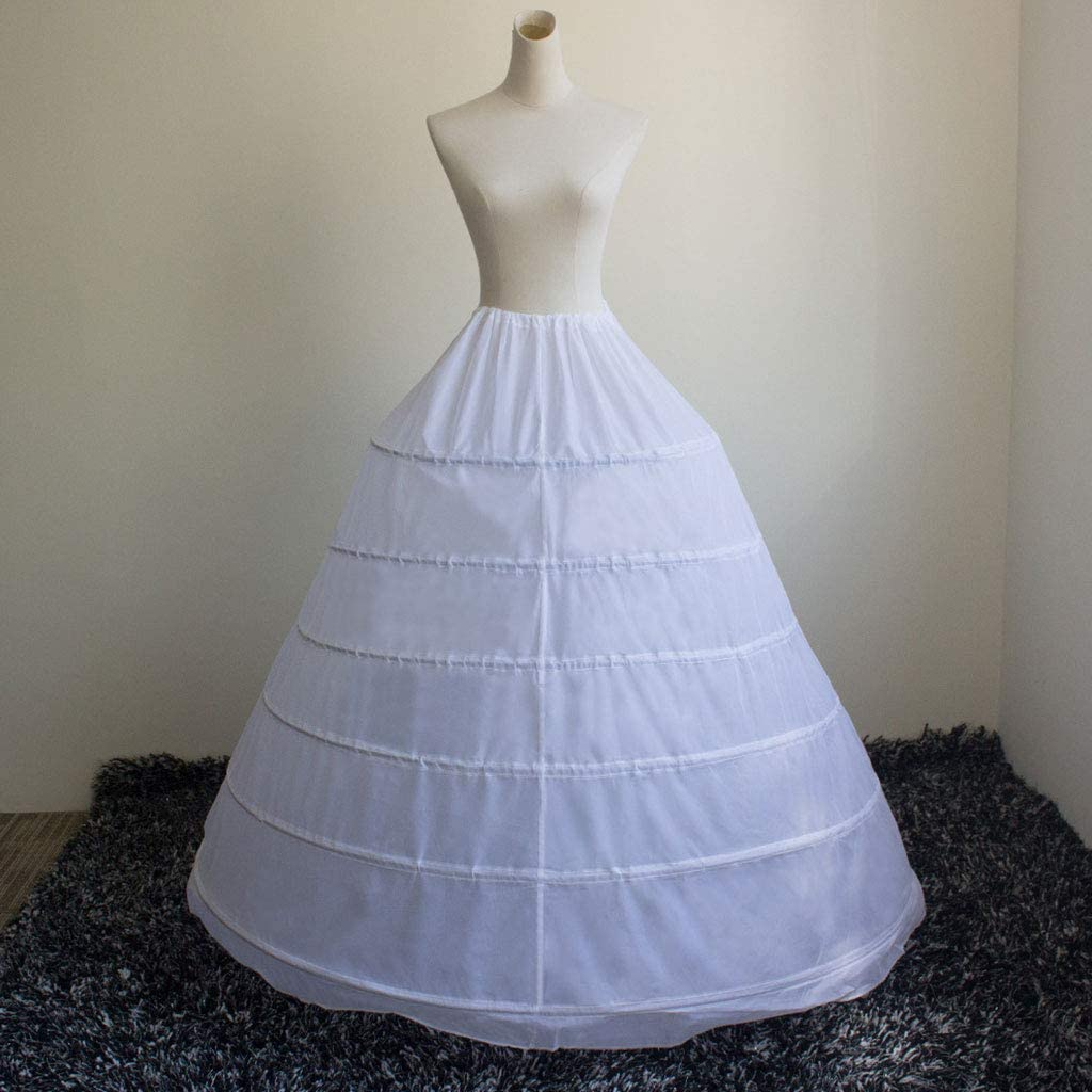 zhiwenCZW Abito da Sposa Donna Abito da Sposa Gonna Costume Sottoveste Slip 6-Hoops Sottogonne Senza Filo Gonne Elastiche in Vita