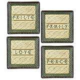 Grasslands Road, Celtic Tidbit Dish Set of 4, Family, Peace, Love, Failte 470997