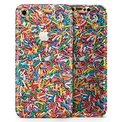 Colorful Candy Sprinkles - Design Skinz Thin Vinyl Decal Wrap Cover for Apple iPhone XR 2-Pack Bundle! Full-Body + Back Glass -