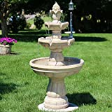 Sunnydaze Three-Tier Outdoor Garden Water Fountain, 48 Inch Tall Review