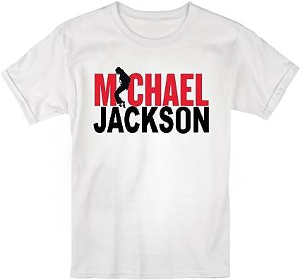 LaMAGLIERIA Camiseta niño Michael Jackson Bicolor - t-Shirt Kids Rocker algodòn: Amazon.es: Ropa y accesorios