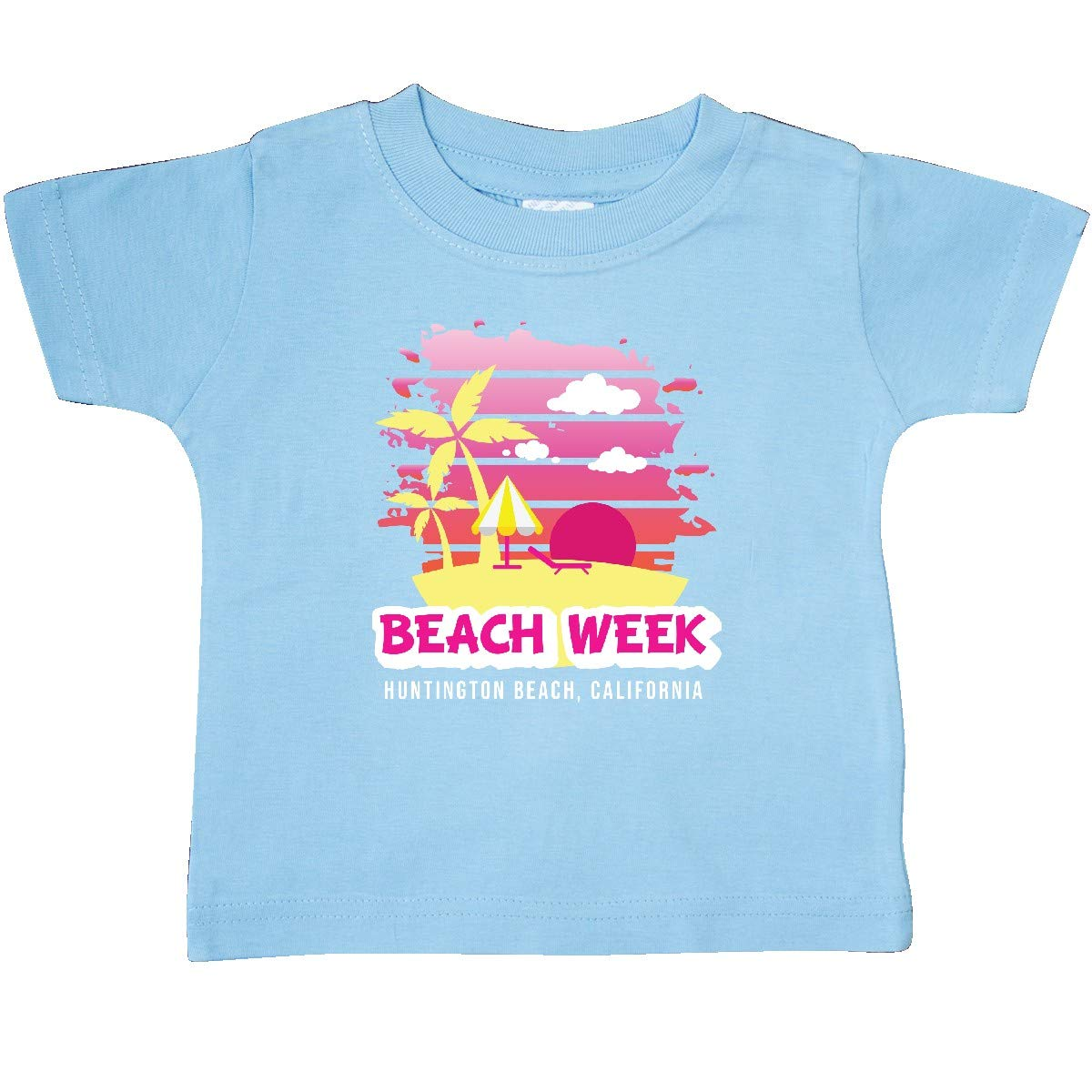 inktastic Beach Week Huntington Beach California with Palm Trees Baby T-Shirt