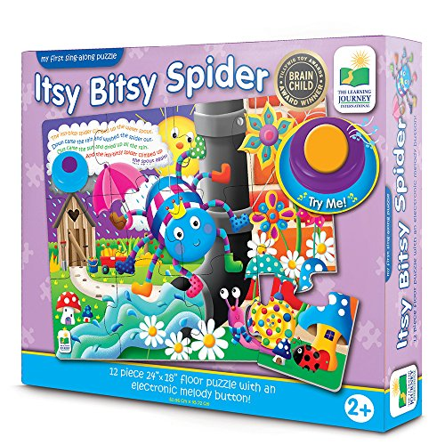 First Spider - The Learning Journey: My First Sing Along Puzzle - Itsy Bitsy Spider - 12 Piece Floor Puzzle with Electric Melody Button