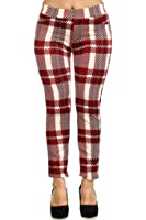 Simplicity Juniors Style Legwear Classic Plaid Pattern Stretch/Ankle Length