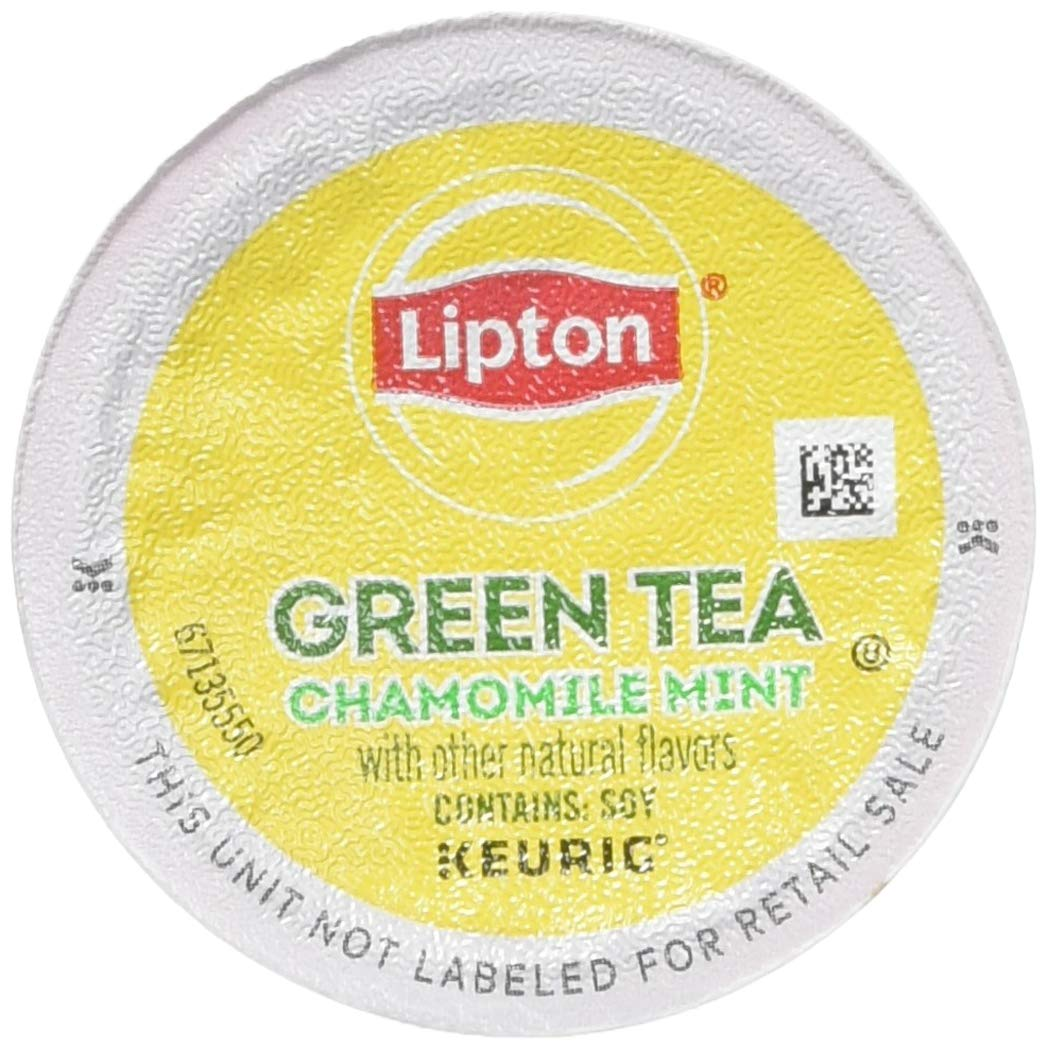 Lipton Soothe Green Tea with Chamomile and Mint single serve K-Cup pods for Keurig brewers, 96 Count by Lipton