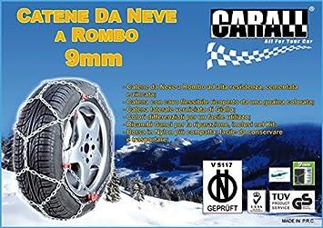 CATENE DA NEVE PER AUTO SNOW CHAINS SNOW LINE 9mm A ROMBO