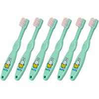 Miffy Official Baby & Toddler Manual Toothbrushes Age 0-3 Years SIX PACK Soft Bristles & Easy Grip First Brushes Miffy the Rabbit Design in Aquamarine Green