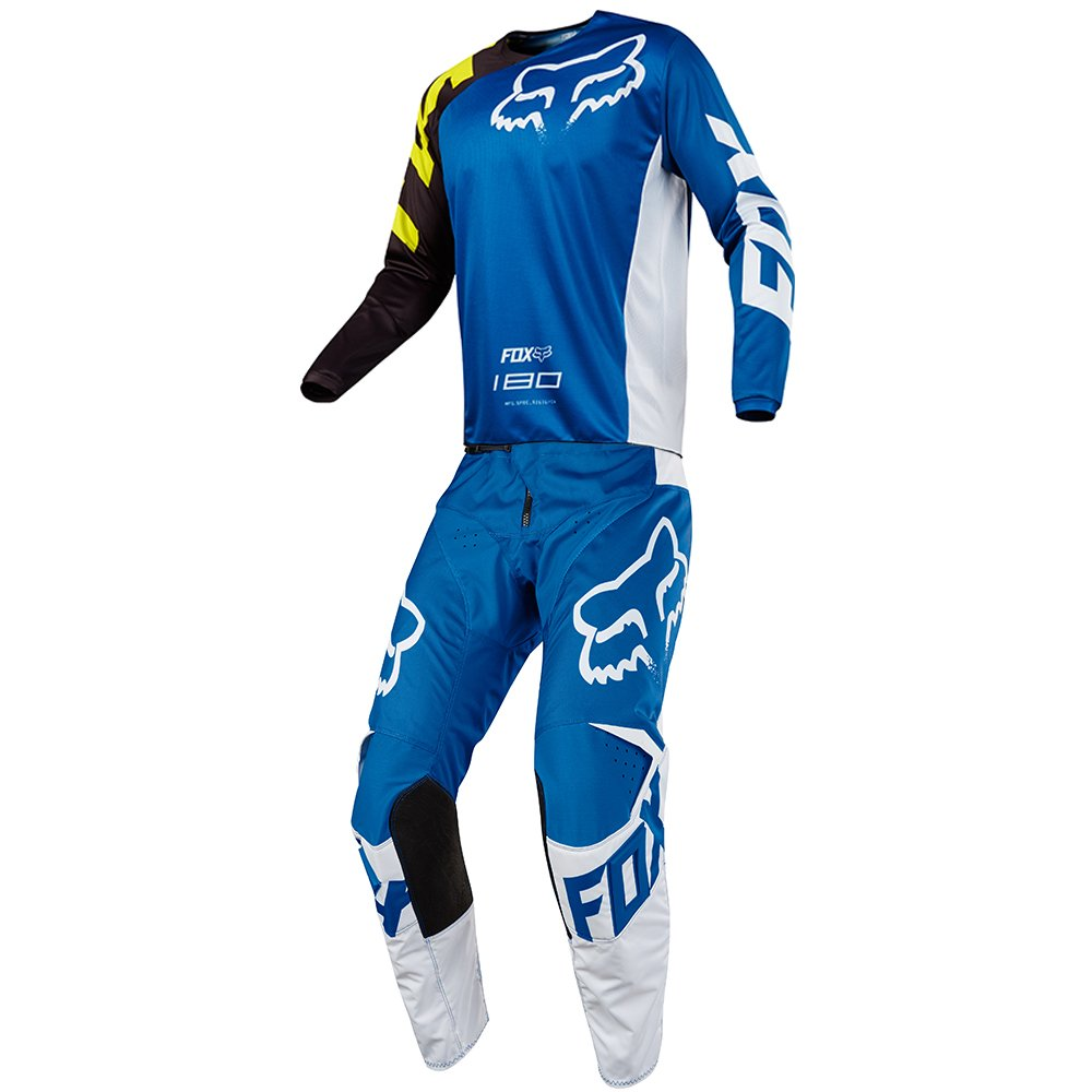 Fox Racing 180 Race Blue Jersey/Pant Youth Combo - Size Y-LARGE/26W