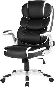 YAMASORO Leather Ergonomic Executive Office Chair