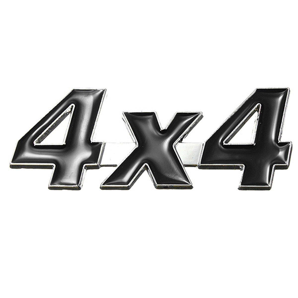 JenNiFer Distintivo DellEmblema del Metallo Auto Adesivo Cromato 3D 4X4 Nero