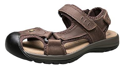 8ec621706b5f AGOWOO Sandles Outdoor Closed Toe Beach Hiking Sandals for Women Brown 8  B(M)