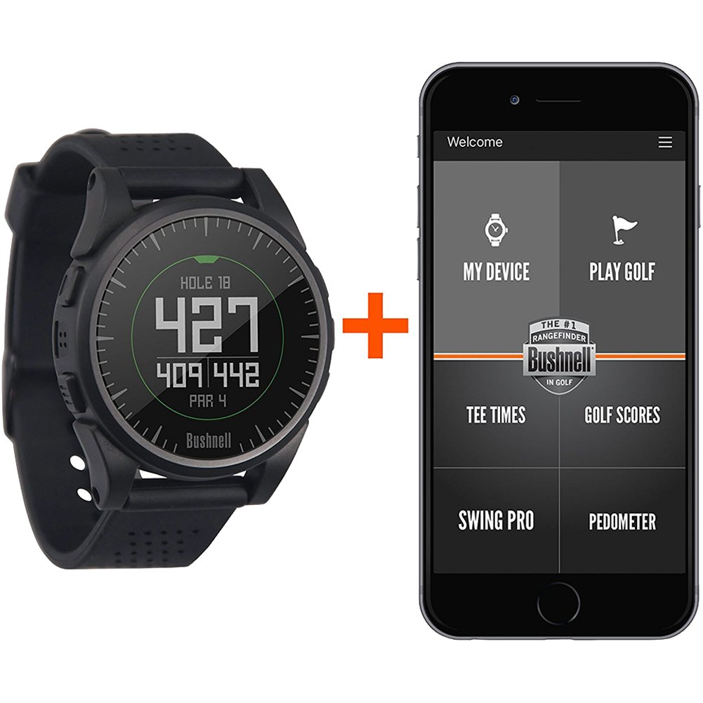 Bushnell 2017 Excel Golf GPS Watch Rangefinder (BLACK) Comes with 1 Custom Ball Marker Hat Clip Set (American Eagle) 35,000+ Worldwide Courses by Bushnell (Image #2)